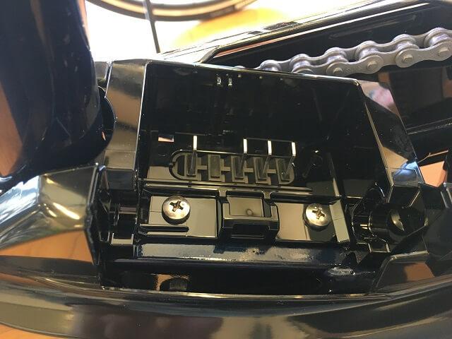 パなシニック電動アシスト自転車ビビDXバッテリー取付部