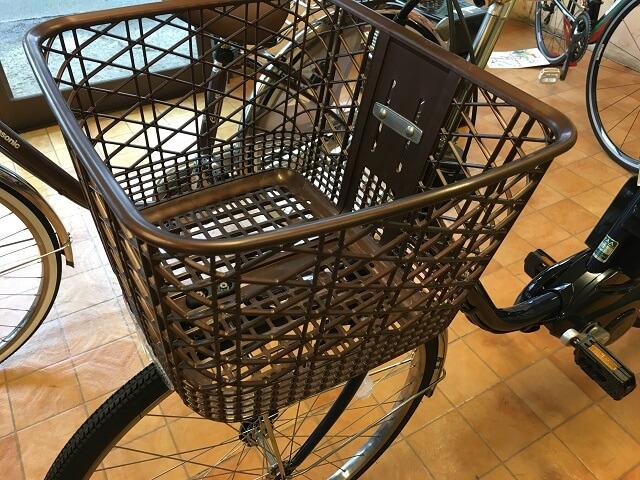 電動アシスト自転車用前カゴ