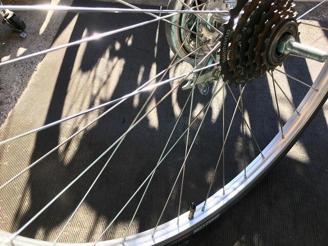自転車ホイール手組一般自転車用完了