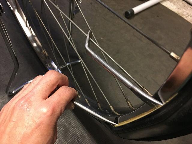 自転車タイヤレバー金属 2本使用