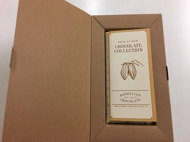ダンデライオンチョコレートのパッケージを開ける