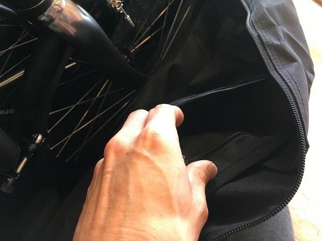 KHSF-20R純正輪行袋ファスナー付き内ポケット