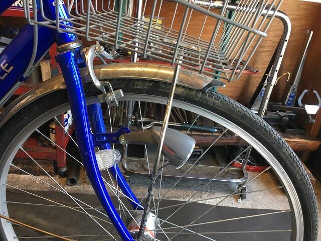 自転車フロントフォーク歪み