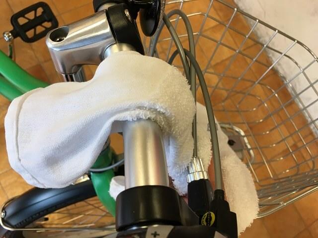 アッソン24J子供自転車掃除ハンドルから