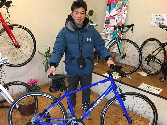 自転車納車ご来店のお客様紹介 k様レイル700