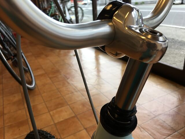 子供用自転車ハンドルを高くした場合