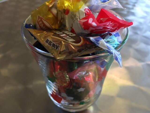 コスナサイクル店内でキャンディーいろいろ