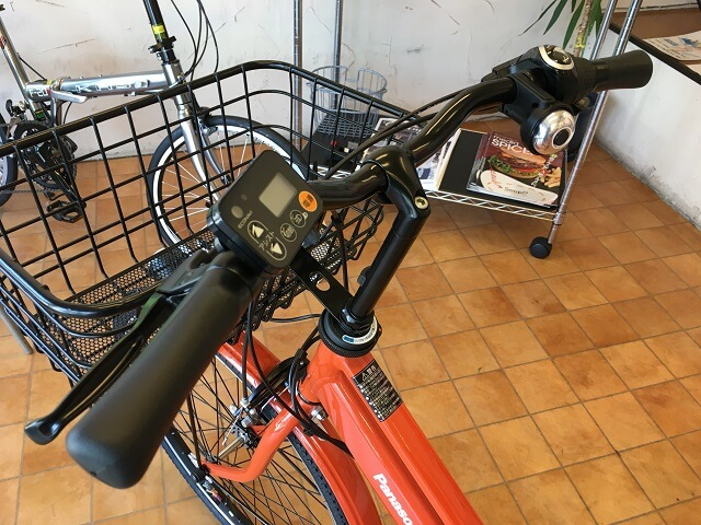 パナソニック電動アシスト自転車 ティモS BE-ELTS633Kオレンジ ハンドルバー