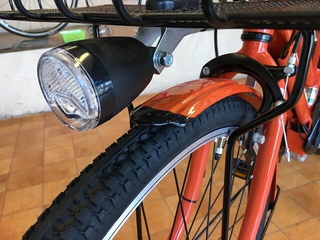 パナソニック電動アシスト自転車 ティモS BE-ELST633Kオレンジ ライト