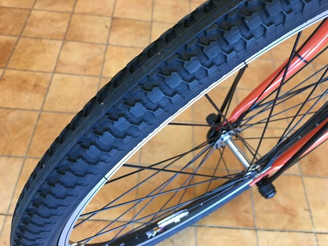 ティモS BE-ELST633Kオレンジ タイヤ