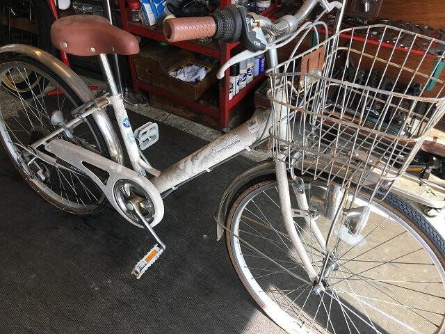 一般自転車前後タイヤチューブ交換依頼
