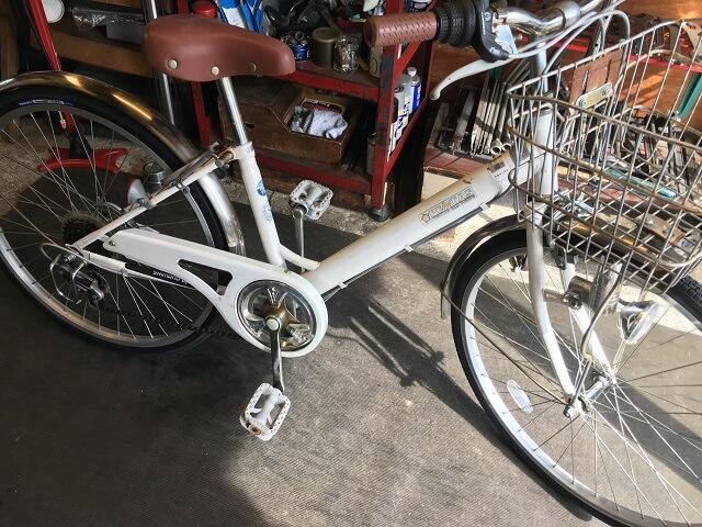 一般自転車前後タイヤチューブ交換作業終了
