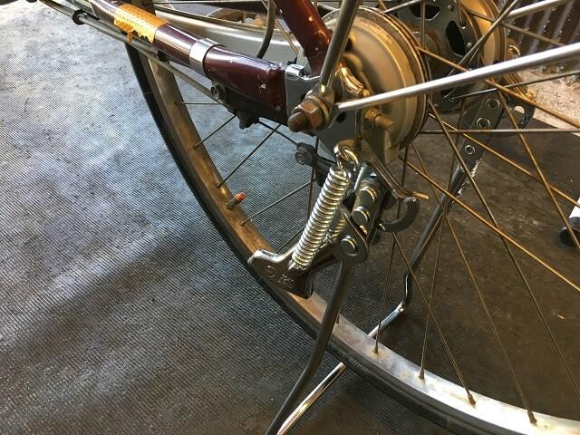 自転車両立スタンド交換作業終了