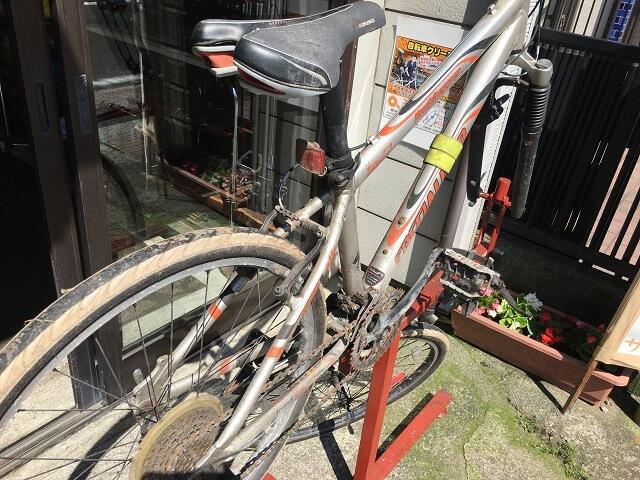 サイクルクリーニング洗車準備マウンテンバイク