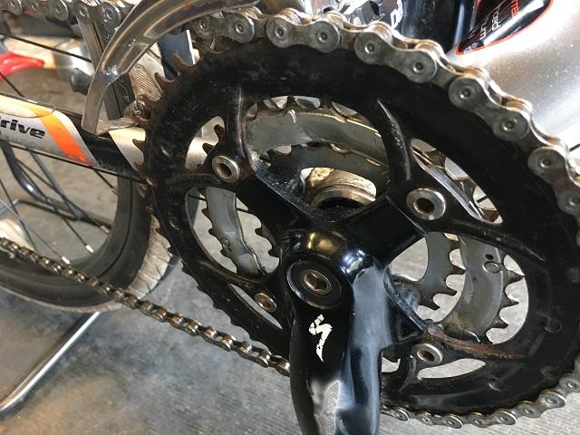サイクルクリーニング作業後マウンテンバイクのギア周り