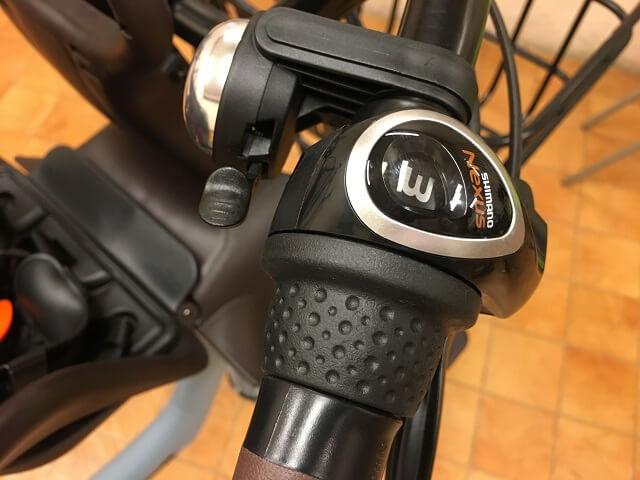 パナソニック電動自転車ギュットアニーズDX内装3段変速グリップ