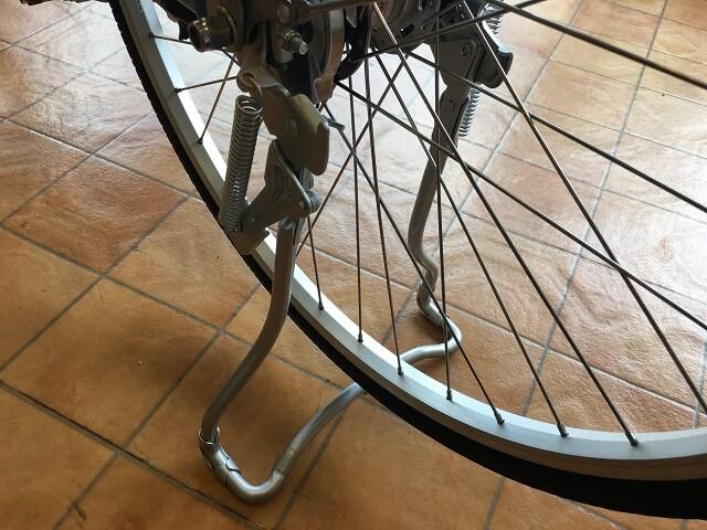 パナソニック電動アシスト自転車ビビLUアルミスタンド