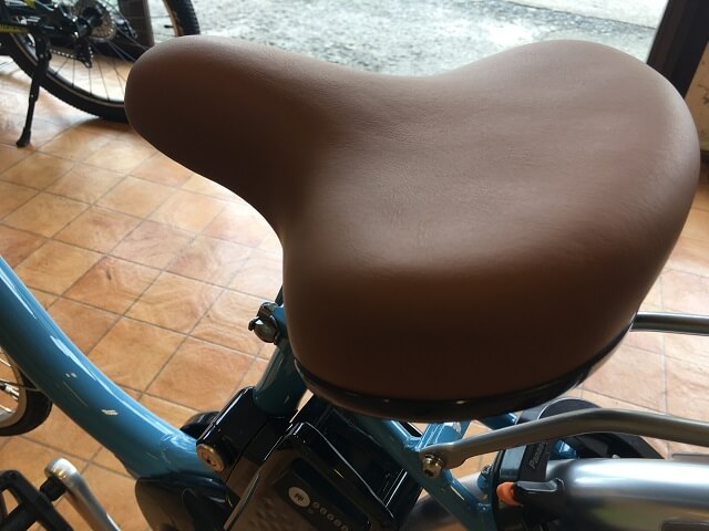 パナソニック電動アシスト自転車ビビLUサドル