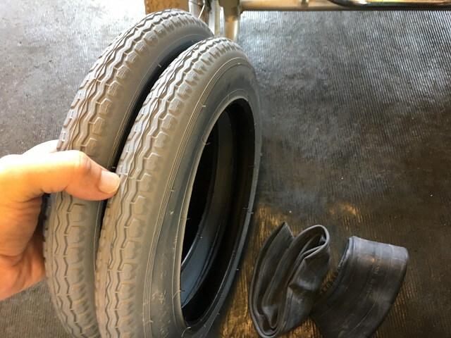 車いす用12インチグレータイヤ