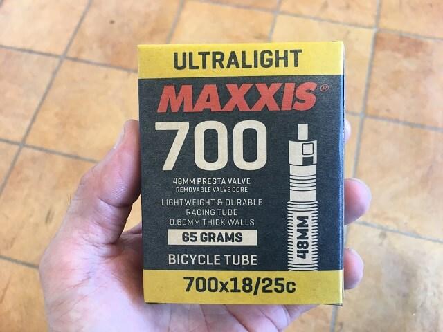マキシス 700×18/25Cフレンチバルブ48mmチューブ
