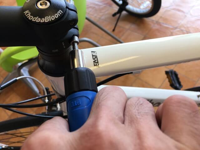クロスバイクハンドルステムのトルク管理パークツールトルクドライバーPTD-5