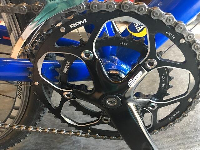 サイクルクリーニング ギヤクランク周りアフター ジオスナチュール