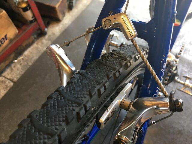 サイクルクリーニング リヤブレーキ汚れ落しアフター ジオスナチュール
