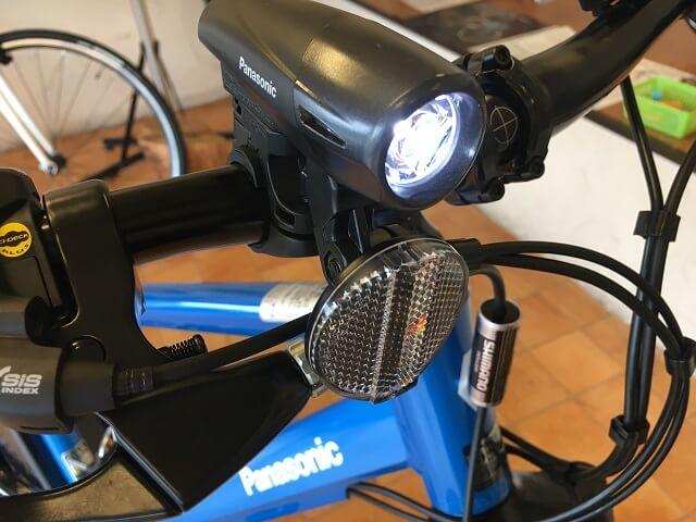 パナソニック電動アシスト自転車「ハリヤ」LEDスポーツバッテリーライト