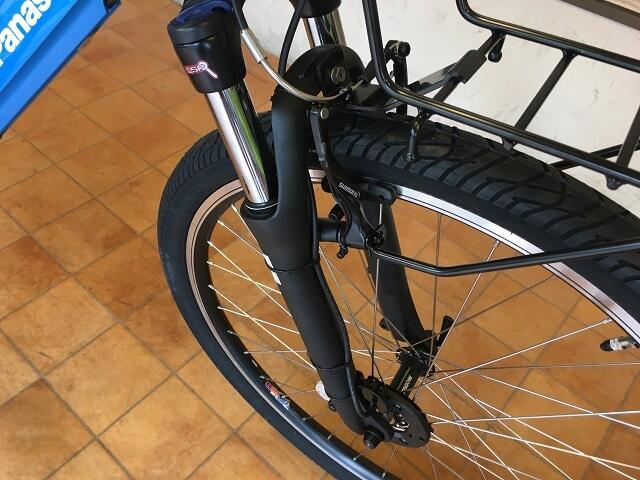 パナソニック電動アシスト自転車「ハリヤ」フロントサスペンション