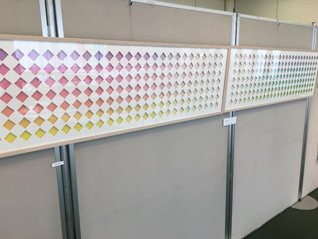 玉村先生の染色したクラデーション作品