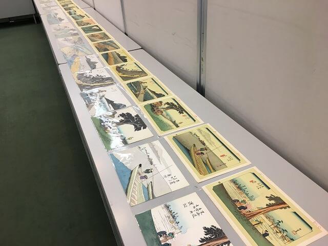 玉村先生の東海道五十三次の模写作品