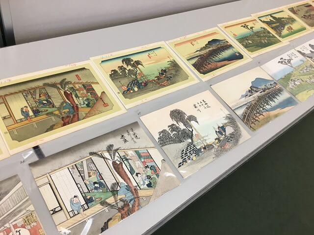 玉村先生の東海道五十三次の模写作品拡大
