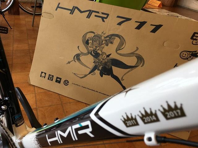 HMR711 R8000仕様 500㎜ ダウンチューブに歴代チャンピオン冠