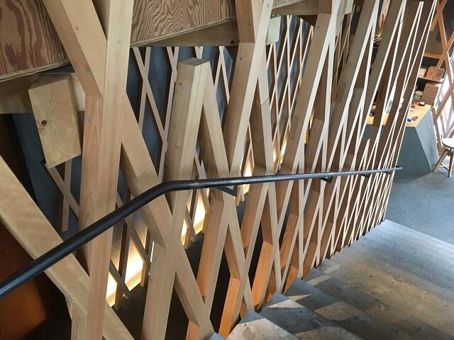 サニーヒルズ南青山の2階に上がる階段