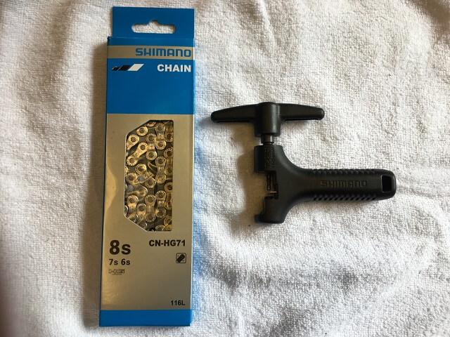 シマノチェーン6~8段用とチェーン切工具