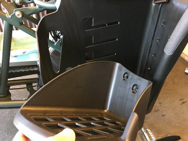 リヤチャイルドシート用ステップ取り付け作業