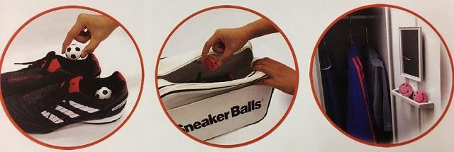 スニーカーボール ハップピーフィート使用例