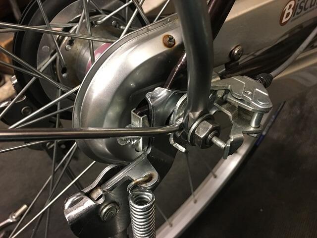 後輪の正しい組付け方3段ギヤ側