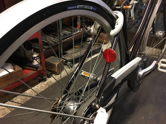 ベルト自転車後輪タイヤ交換完了
