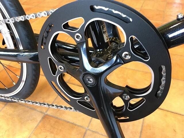 コーダーブルーム2019レイル20ブラック480mm のギヤクランク