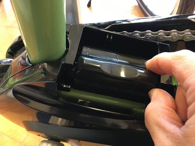 パナソニック電動アシスト自転車端子カバーNAH413を被せる