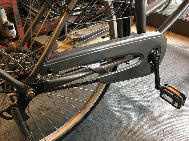 一般自転車チェーン外れ直しと調整完了