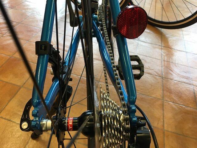 クロスバイクやってはいけないギヤ位置ギヤ小での対角線