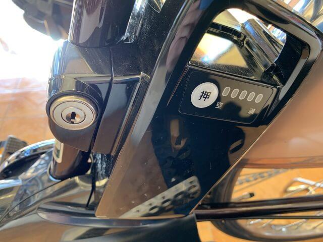 電動アシスト自転車用バッテリー用鍵穴