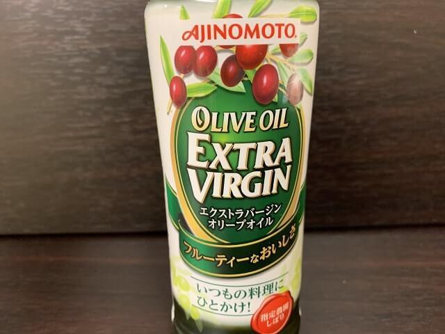 味の素エクストラバージンオリーブオイルのラベル