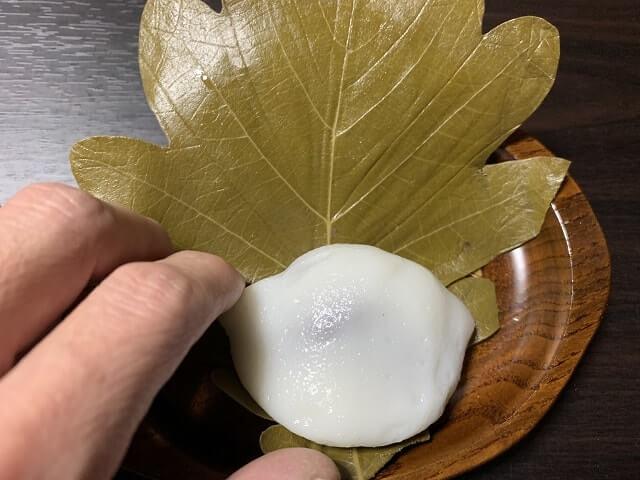 小田原市扇町の佐宗菓子舗さんの柏餅食べる