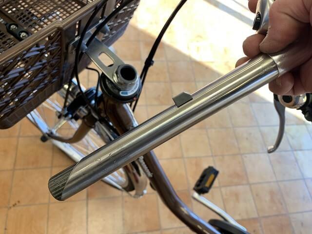 一般自転車ハンドル調整のハンドルステム構造
