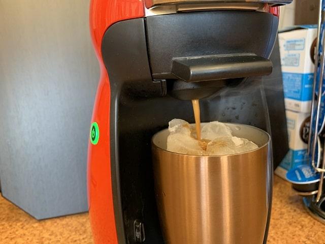 ドルチェグストアイスコーヒーをホット抽出する