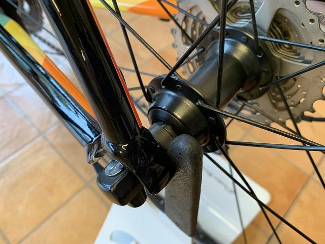 自転車バイクスタンドをロードバイクに使う
