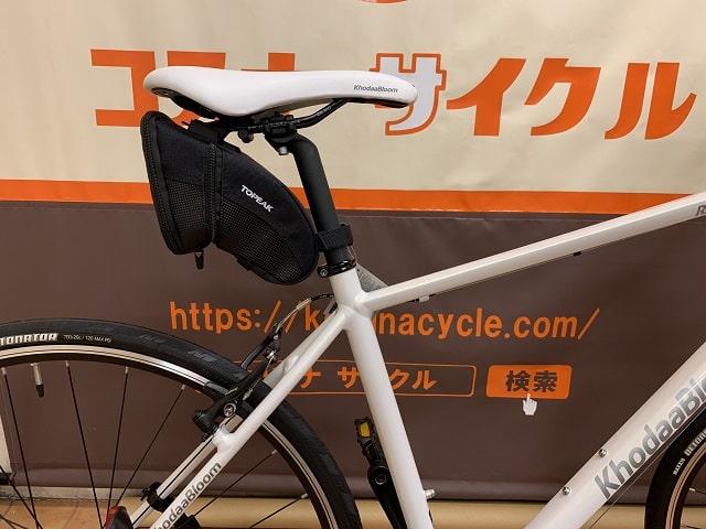 トピークサドルバッグ エアロウェッジLサイズをクロスバイクに取り付ける
